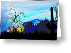 I Am And You Are The Moonset  Acknowledging And Accepting Our Past Mistakes- Autumn 1 Greeting Card
