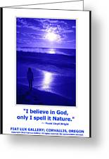 I Believe In God Greeting Card