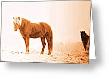 I Came Out Of Nothing To Meet You Here In Nomansland  Greeting Card