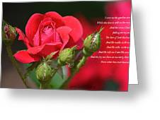 I Come To The Garden Alone Greeting Card