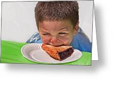 I Don't Want To - Pie Eating Contest Art Prints Greeting Card