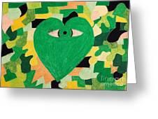 I Eye Love Green Greeting Card