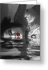 I Float On Red Greeting Card