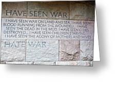I Hate War Greeting Card