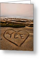 I Heart Yee Greeting Card