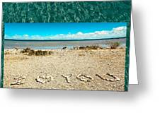 I Heart You Shores Of Lake Michigan Greeting Card
