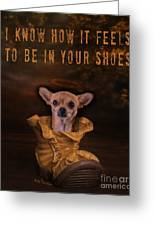 I Know How It Feels To Be In Your Shoes Greeting Card