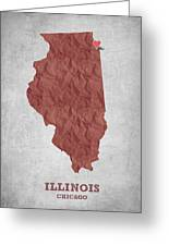 I Love Chicago Illinois - Red Greeting Card