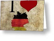 I Love Germany Greeting Card