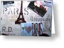 I Love Paris Greeting Card