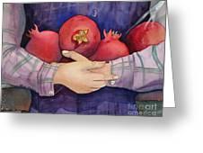I Love Pomogranates Greeting Card