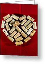 I Love Red Wine - Vertical Greeting Card