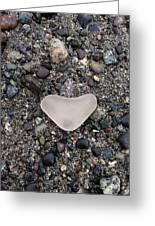 I Love Seaglassing Greeting Card
