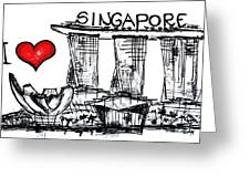 I Love Singapore Greeting Card