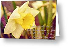 I Love To Tell The Story Greeting Card by Michelle Greene Wheeler