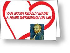 I Love Van Gogh Greeting Card