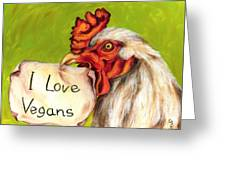 I Love Vegans Greeting Card