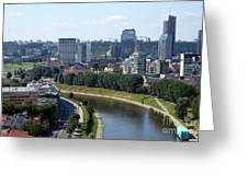 I Love You. Vilnius. Lithuania Greeting Card