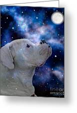 I See The Moon Greeting Card by Judy Wood