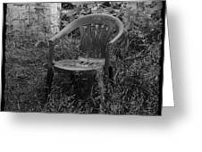 I Used To Sit Here Greeting Card by Luke Moore