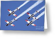 Iaf Flight Academy Aerobatics Team 6 Greeting Card