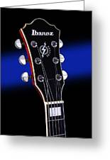 Ibanez Af75 Electric Hollowbody Guitar Headstock Greeting Card