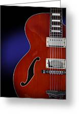 Ibanez Af75 Hollowbody Electric Guitar Front View Greeting Card