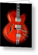 Ibanez Af75 Hollowbody Electric Guitar Zoom Greeting Card