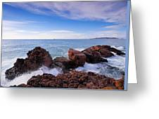 Ibiza Coastline Greeting Card