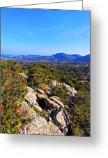 Ibiza Mountains Greeting Card