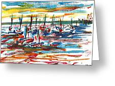 Ibiza Seas Greeting Card by Anthony Fox