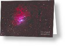 Ic 405, The Flaming Star Nebula Greeting Card