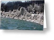 Ice Along The River Greeting Card