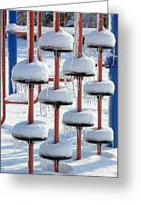 Ice And Snow-5637 Greeting Card
