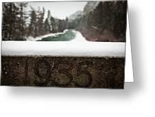 Ice And Snow Make For An Eerie Winter Greeting Card