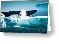 Ice And Surf Greeting Card