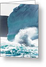 Ice And Surf II Greeting Card by David Pinsent