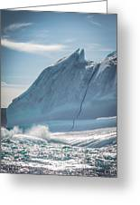 Ice And Surf IIi Greeting Card