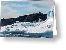 Ice And Surf Iv Greeting Card by David Pinsent