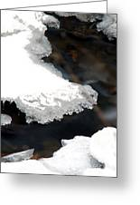 Ice And Water Greeting Card