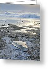 Ice And Waves Greeting Card by Tim Grams