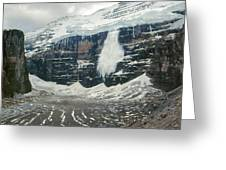 1m3545-01-ice Avalanche On Mt. Victoria Greeting Card