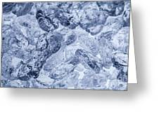 Ice Background Greeting Card
