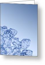Ice Background With Copyspace Greeting Card