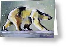 Ice Bear Greeting Card by Mark Adlington