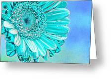 Ice Blue Greeting Card