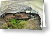 Ice Cave At The Mountains Greeting Card