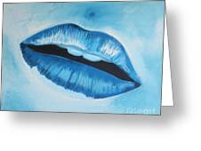Ice Cold Lips Greeting Card