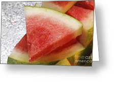 Ice Cold Watermelon Slices 1 Greeting Card