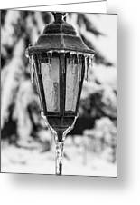 Ice Covered Lantern Greeting Card